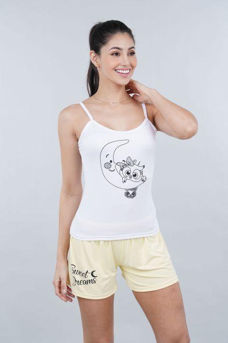 Pijama para Mujer Color Amarillo Ref: P40041 - Espectra - Talla: S