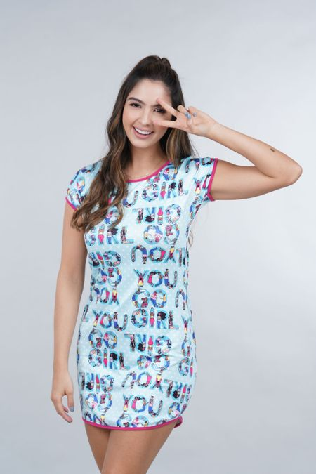 Pijama para Mujer Color Azul Ref: 002460 - Ambil - Talla: S