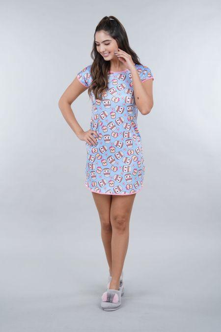 Pijama para Mujer Color Azul Ref: 002457 - Ambil - Talla: S