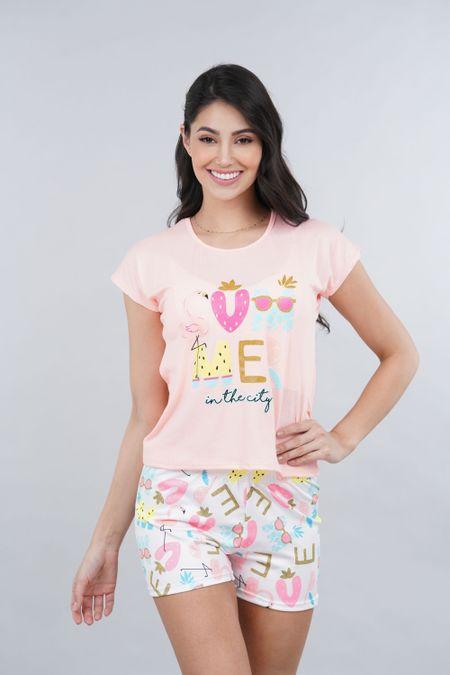 Pijama para Mujer Color Naranja Ref: 002464 - Ambil - Talla: S