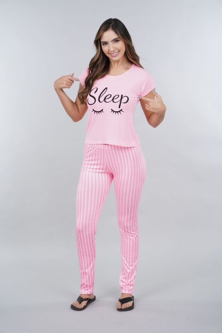 Pijama para Mujer Color Rosado Ref: 002274 - Ambil - Talla: S