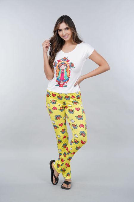 Pijama para Mujer Color Amarillo Ref: 002330 - Ambil - Talla: S