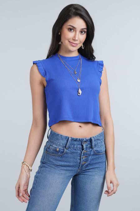Blusa para Mujer Color Azul Ref: 027418 - CCU - Talla: XL