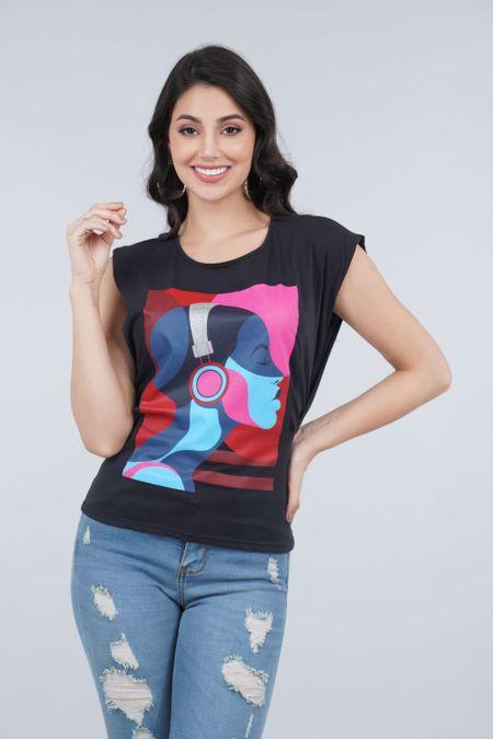 Blusa para Mujer Color Negro Ref: 033310 - CCU - Talla: S