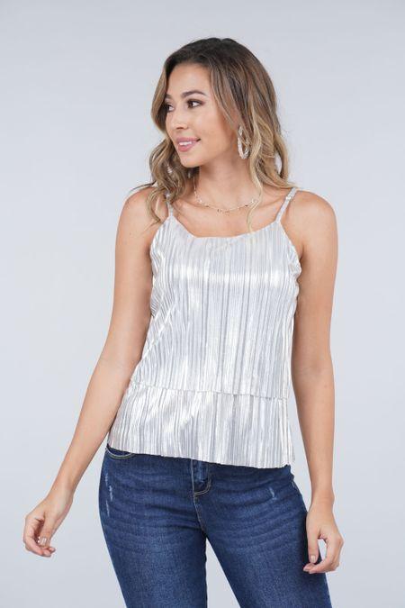 Blusa para Mujer Color Plateado Ref: 033379 - CCU - Talla: M