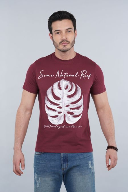 Camiseta para Hombre Color Vinotinto Ref: 010043 - CCU - Talla: S