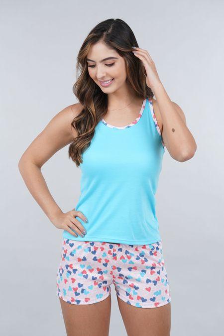 Pijama para Mujer Color Azul Ref: 990100 - CCU - Talla: S