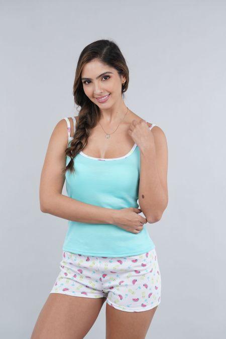 Pijama para Mujer Color Verde Ref: 990210 - CCU - Talla: S