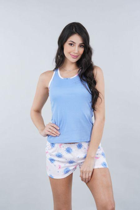Pijama para Mujer Color Azul Ref: 990912 - CCU - Talla: S