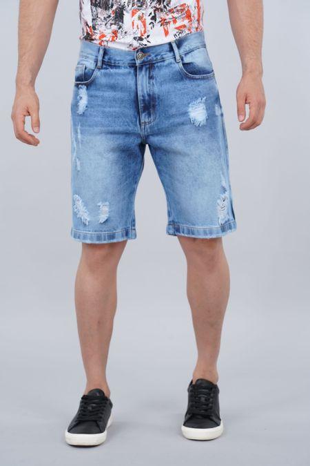 Bermuda para Hombre Color Azul Ref: 103464 - Tex Sion - Talla: 28