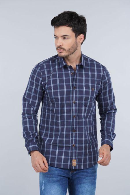 Camisa para Hombre Color Azul Ref: 103479 - E.U - Talla: S