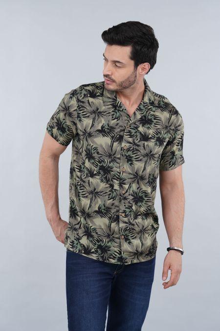 Camisa para Hombre Color Verde Ref: 103070 - E.U - Talla: S