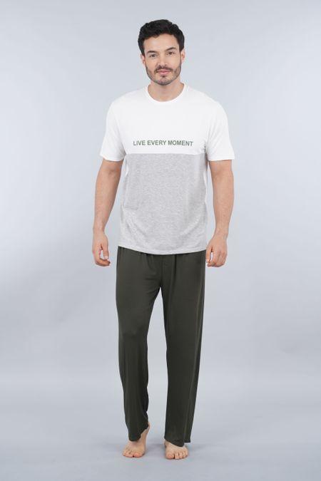 Pijama para Hombre Color Marfil Ref: 003300 - CCU - Talla: S