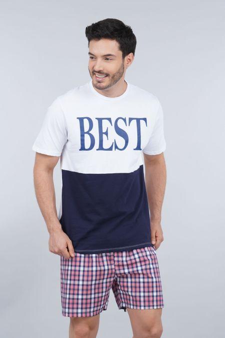 Pijama para Hombre Color Blanco Ref: 003304 - CCU - Talla: S