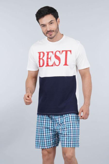 Pijama para Hombre Color Marfil Ref: 003304 - CCU - Talla: S