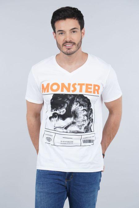 Camiseta para Hombre Color Blanco Ref: 01040-10 - CCU - Talla: S