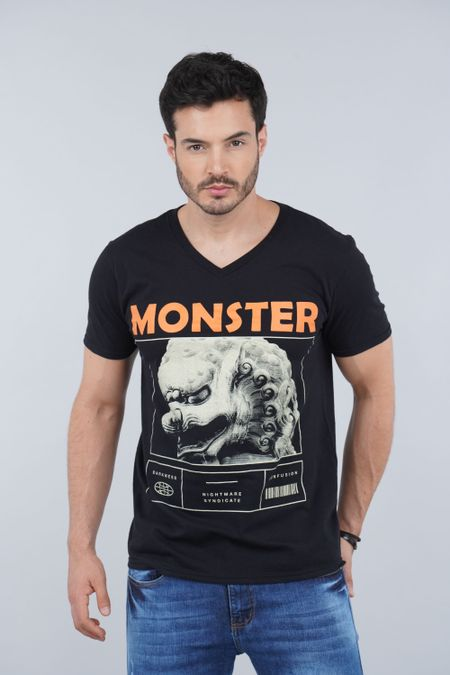 Camiseta para Hombre Color Negro Ref: 01040-10 - CCU - Talla: S
