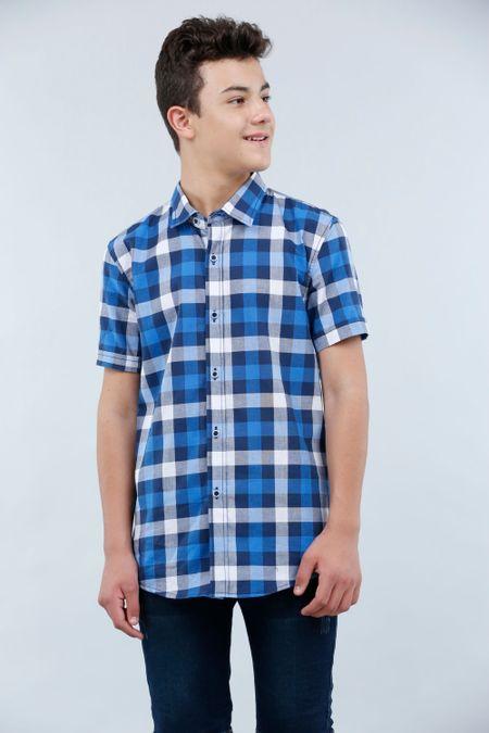 Camisa para Junior Color Azul Ref: 201725 - Tex Sion - Talla: 12