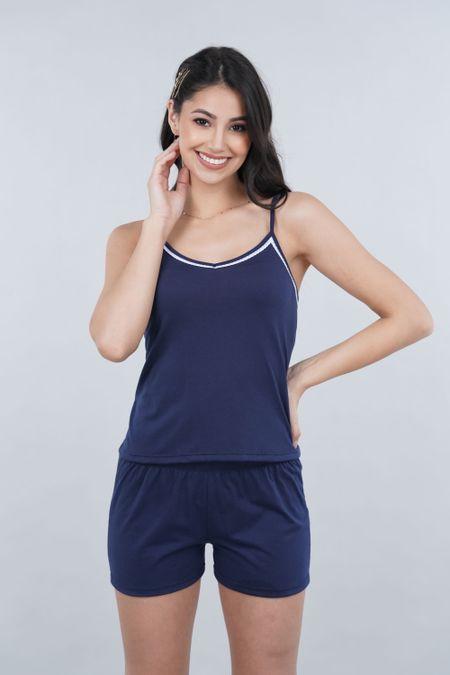Pijama para Mujer Color Azul Ref: 000905 - SieteSiete - Talla: S