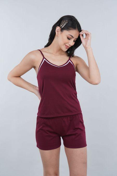 Pijama para Mujer Color Vinotinto Ref: 000905 - SieteSiete - Talla: S