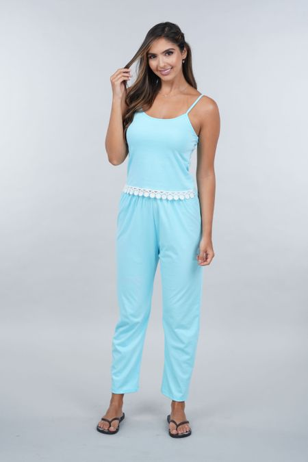 Pijama para Mujer Color Azul Ref: 00C902 - SieteSiete - Talla: S