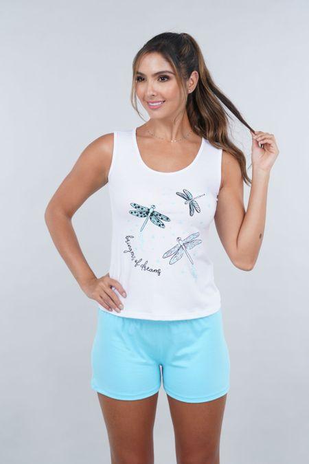 Pijama para Mujer Color Blanco Ref: 00C906 - SieteSiete - Talla: S