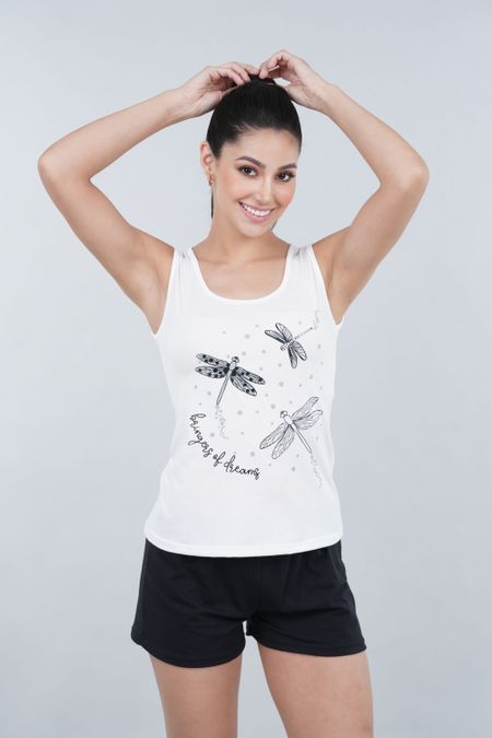 Pijama para Mujer Color Marfil Ref: 00C906 - SieteSiete - Talla: S