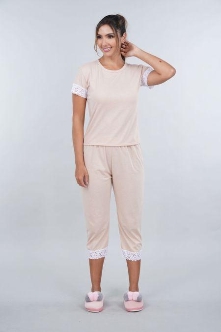 Pijama para Mujer Color Cafe Ref: 00C907 - SieteSiete - Talla: S