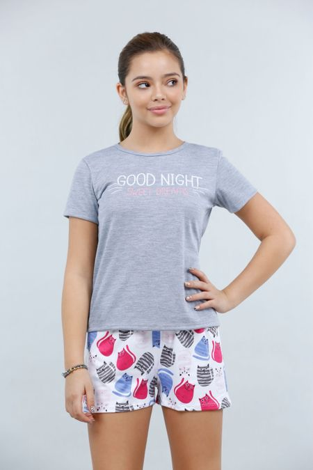 Pijama para Teen Color Gris Ref: 021081 - CCU - Talla: 10