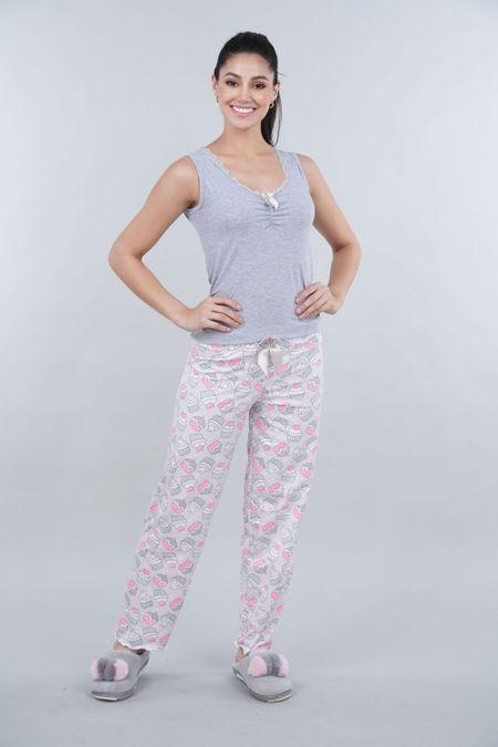 Pijama para Mujer Color Gris Ref: 000381 - Myaw - Talla: S