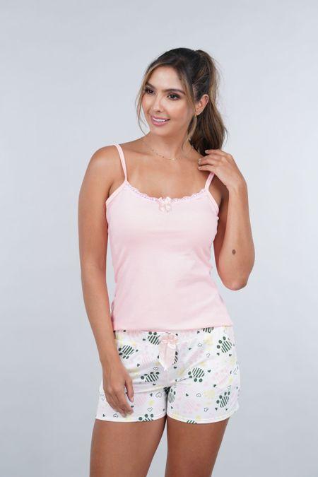 Pijama para Mujer Color Rosado Ref: 000142 - Myaw - Talla: S
