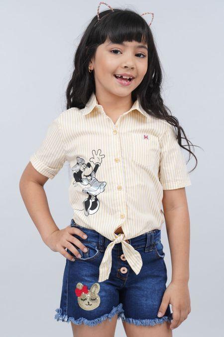 Camisa para Niña Color Amarillo Ref: 116033 - Tex Sion - Talla: 6