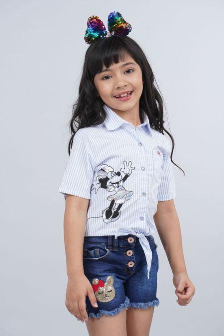 Camisa para Niña Color Azul Ref: 116033 - Tex Sion - Talla: 6