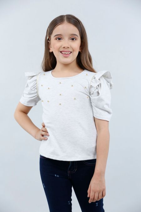 Blusa para Niña Color Marfil Ref: 023010 - Lazus - Talla: 4