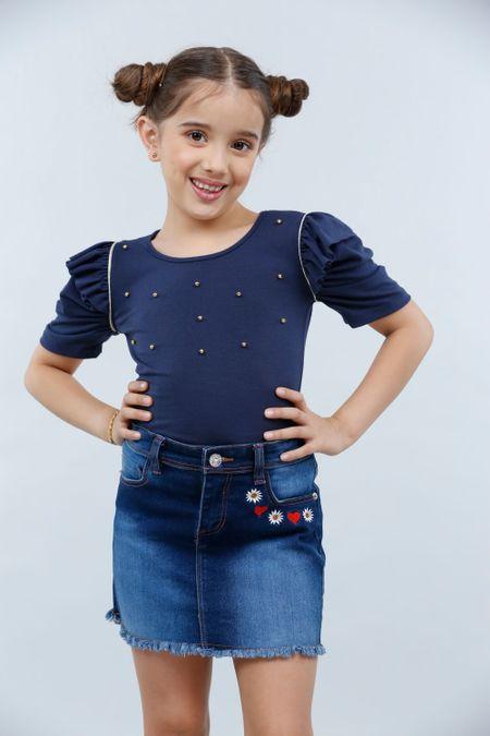 Blusa para Niña Color Azul Ref: 023010 - Lazus - Talla: 4