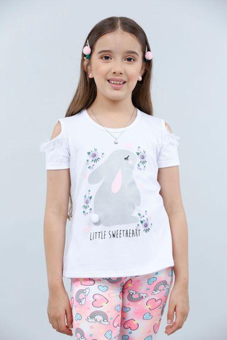 Blusa para Niña Color Blanco Ref: 023016 - Lazus - Talla: 4