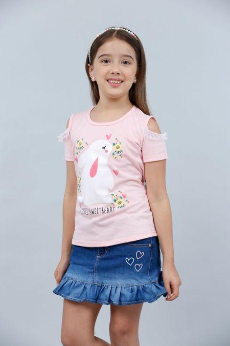 Blusa para Niña Color Rosado Ref: 023016 - Lazus - Talla: 4