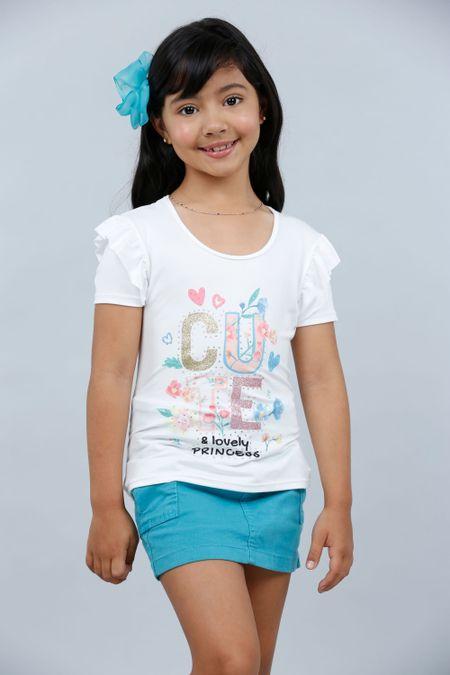 Blusa para Niña Color Marfil Ref: 022981 - Lazus - Talla: 4