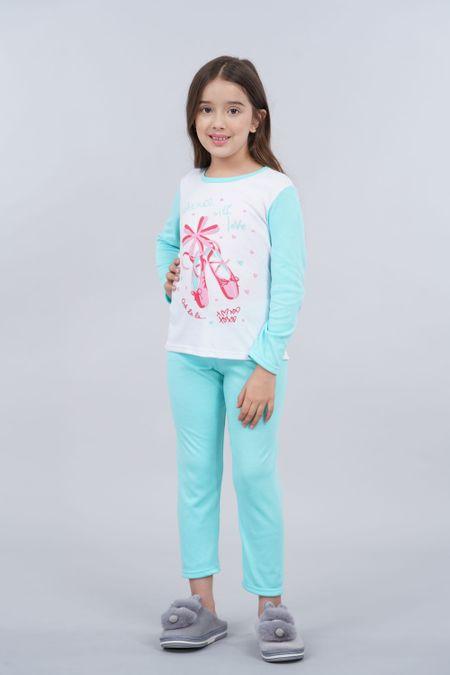 Pijama para Niña Color Verde Ref: 001967 - CCU - Talla: 8