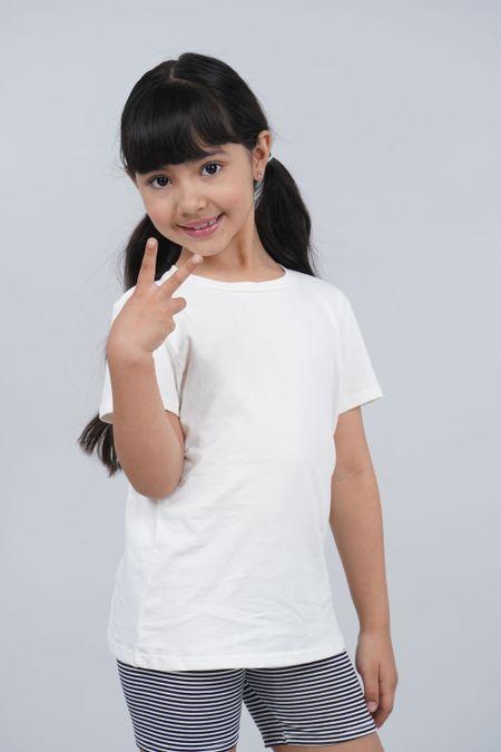 Camiseta para Niña Color Marfil Ref: 002011 - CCU - Talla: 8