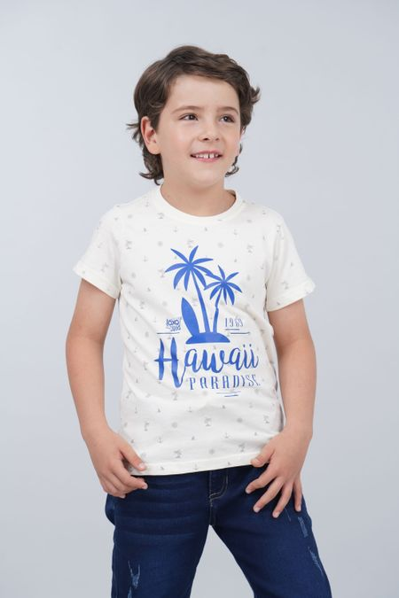 Camiseta para Niño Color Marfil Ref: 030172 - CCU - Talla: 6