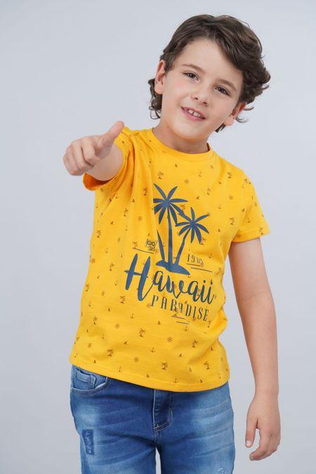 Camiseta para Niño Color Amarillo Ref: 030172 - CCU - Talla: 6
