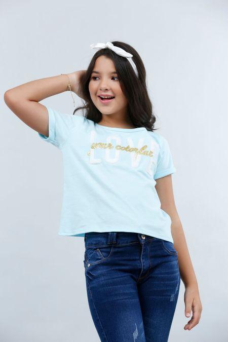 Blusa para Teen Color Azul Ref: 030770 - Lazus - Talla: 14
