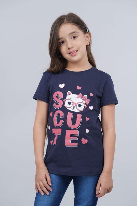 Camiseta para Niña Color Azul Ref: 136110 - CCU - Talla: 6