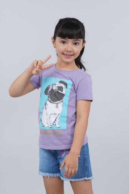 Camiseta para Niña Color Morado Ref: 136111 - CCU - Talla: 6