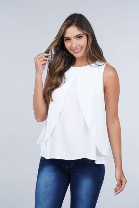 Blusa para Mujer Color Blanco Ref: 029919 - CCU - Talla: S