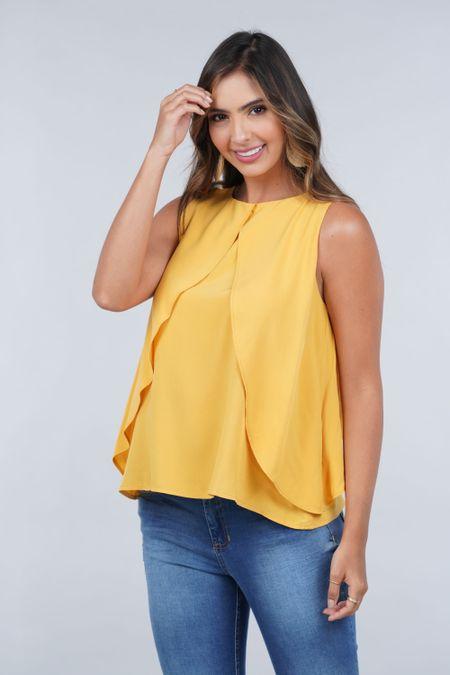 Blusa para Mujer Color Amarillo Ref: 029919 - CCU - Talla: S