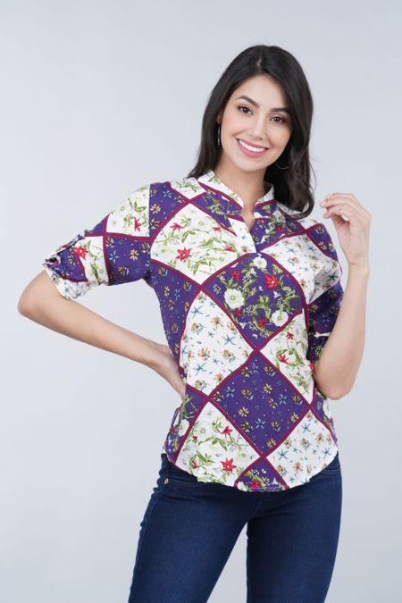 Blusa para Mujer Color Azul Ref: 024060 - CCU - Talla: S