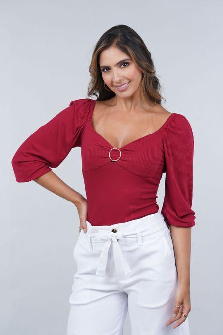 Blusa para Mujer Color Vinotinto Ref: 033019 - CCU - Talla: S