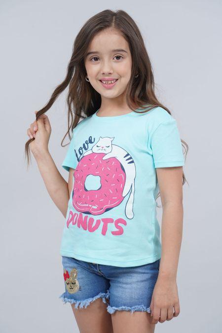 Camiseta para Niña Color Azul Ref: 136112 - CCU - Talla: 6